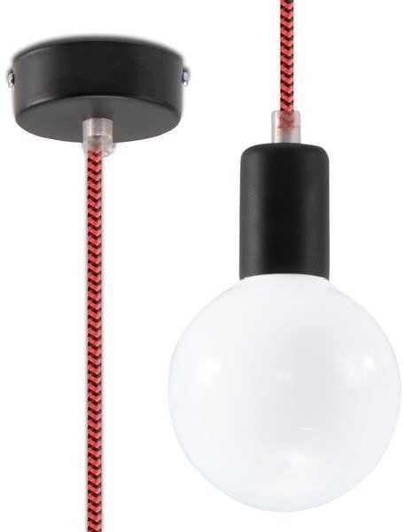 Lampa Wisząca EDISON SL.0158 czarny/czerwony 1xE27
