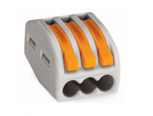 Szybkozłączka WAGO uniwersalna 3 x 0,08-4 mm2 z dźwigniami zwalniającymi