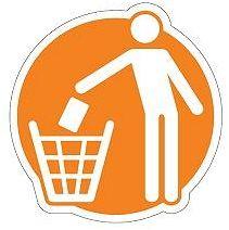 Piktogram na kosz do segregacji Odpady Komunalne Splast