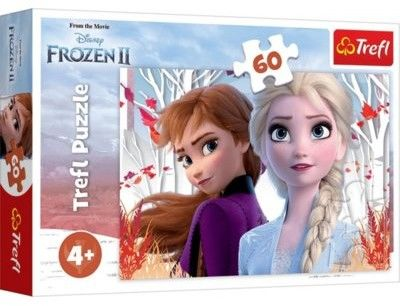 Puzzle 60 el Zaczarowany Świat Anny i Elsy Frozen 2