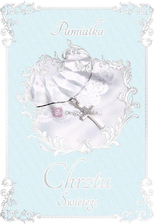 Karnet dla chłopca ROYAL BLUE kartka na Chrzest Święty
