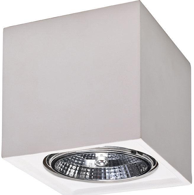 Biały minimalistyczny plafon z ceramiki - EXX207-Sedila