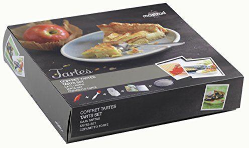Mastrad foremki do tart i quiche do masztów, silikonowe, szare, 12 x 8 x 6 cm