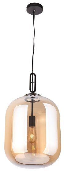 Maxlight Honey Amber P0299 lampa wisząca industrialna szklany klosz półprzeźroczysty kształt zaokrąglonego walca 1x60W E27 30cm