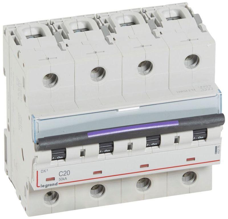 Wyłącznik nadprądowy 4P C 20A 50kA S324 DX3 410175