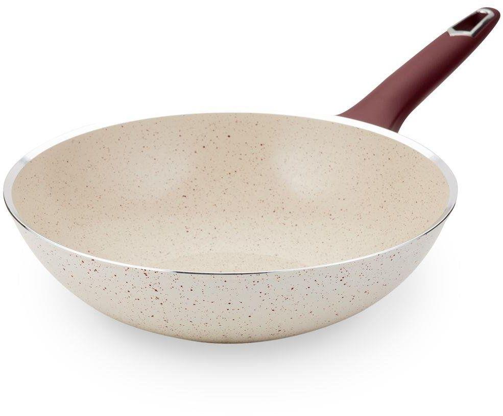 Patelnia wok ceramiczny granitowy TERRESTRIAL do smażenia duszenia 28 cm gaz indukcja