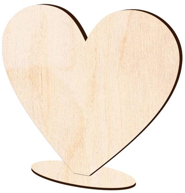Serce drewniane stojące na Walentynki