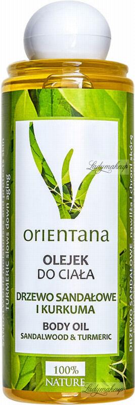 ORIENTANA - BODY OIL - SANDALWOOD & TURMERIC - Olejek do ciała - Drzewo sandałowe i kurkuma - 210 ml