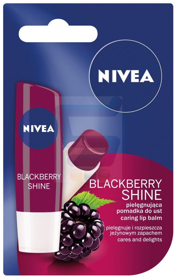 Nivea Pomadka ochronna Blackberry Shine 4,8g