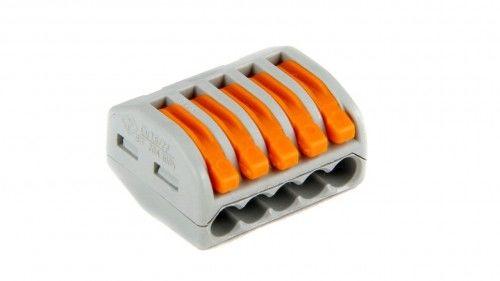 Szybkozłączka WAGO uniwersalna 5 x 0,08-4 mm2 z dźwigniami zwalniającymi