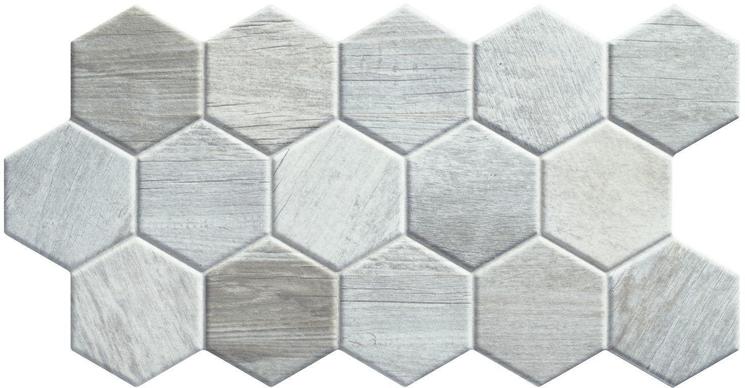 Sequoia Hex White 26,5x51 płytki heksagonalne gresowe