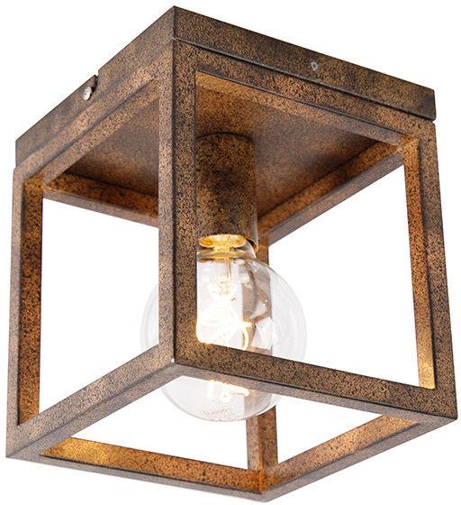 QAZQA Przemysłowy plafon rdzawobrązowy - Cage