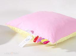 MAMO-TATO Poduszka Minky dwustronna 40x40 Róż / żółty
