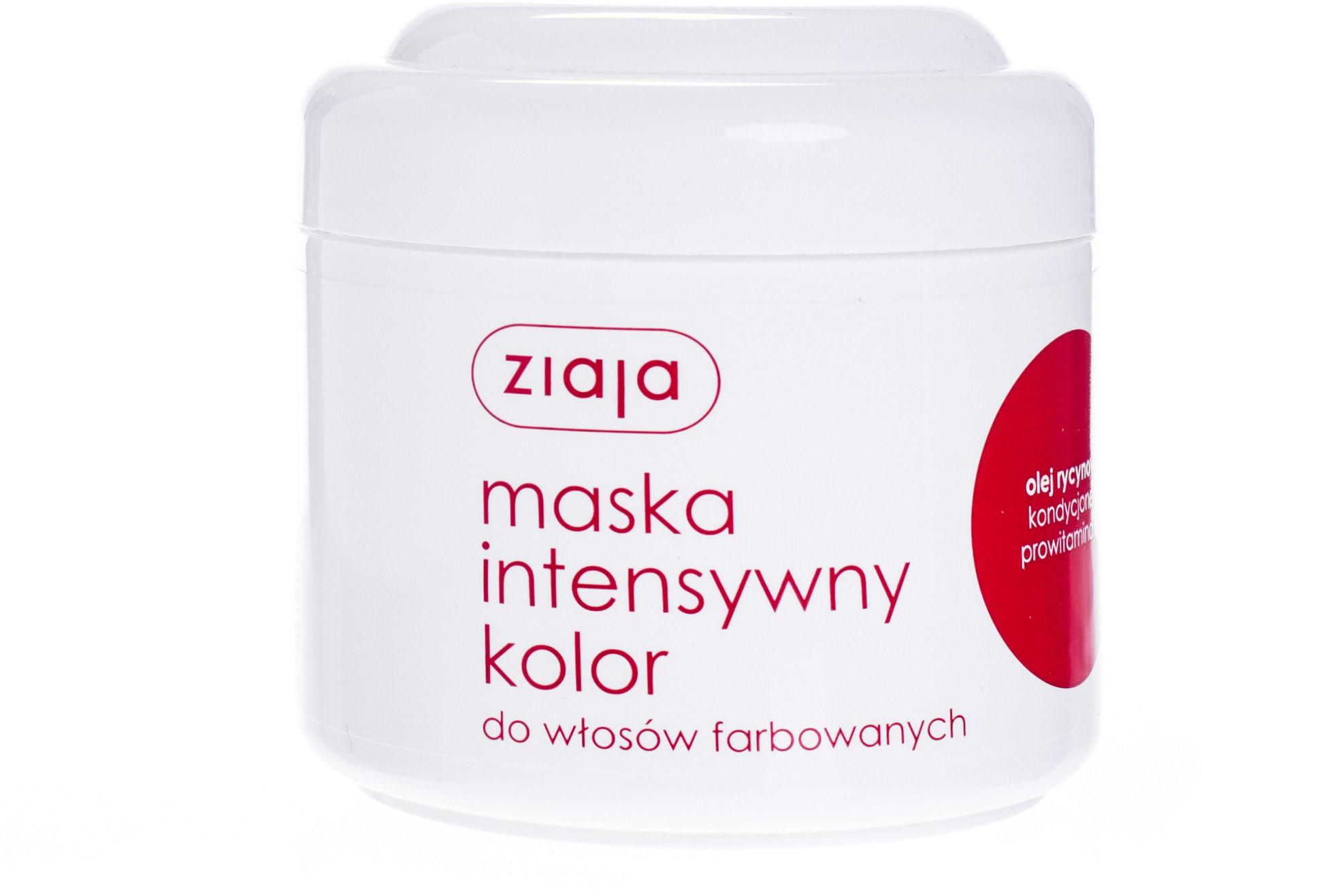 Ziaja maska do włosów intensywny kolor olej rycynowy 200 ml