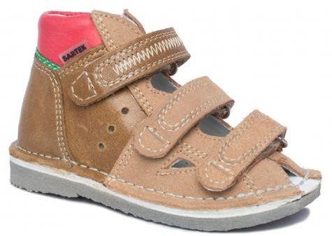 BARTEK 11688/5-V030 kapcie / sandały profilaktyczne chłopięce - beżowy