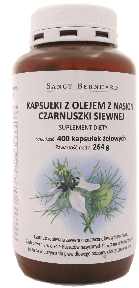 Kapsułki z olejem z nasion czarnuszki siewnej - Sanct Bernhard - 400k