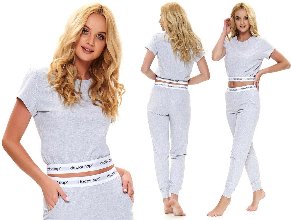 Piżama damska DARIA: jasnoszary