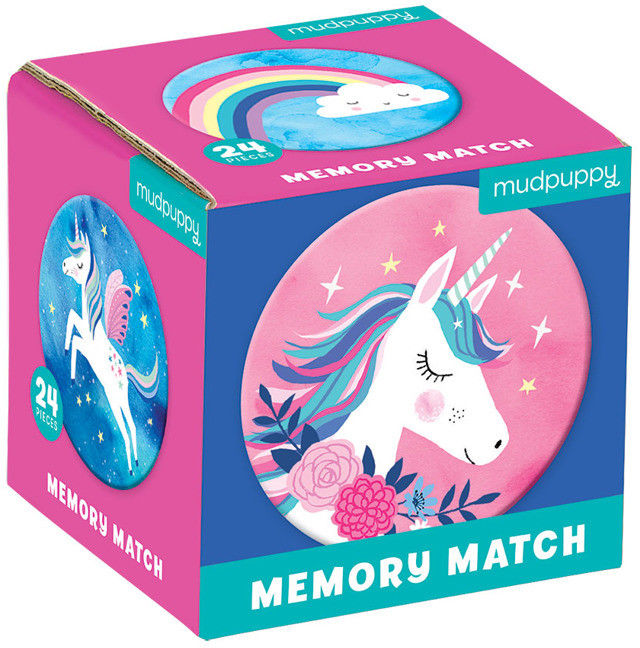 Mudpuppy - gra Mini Memory - Magiczne Jednorożce