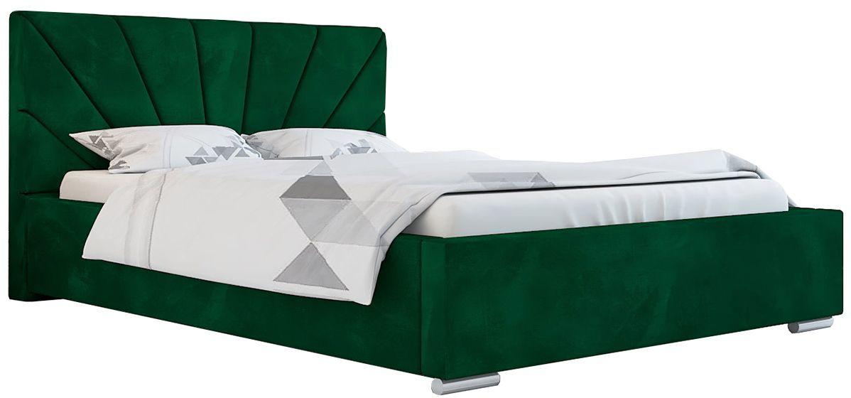 Jednoosobowe łóżko z zagłówkiem 120x200 Rayon 2X - 48 kolorów