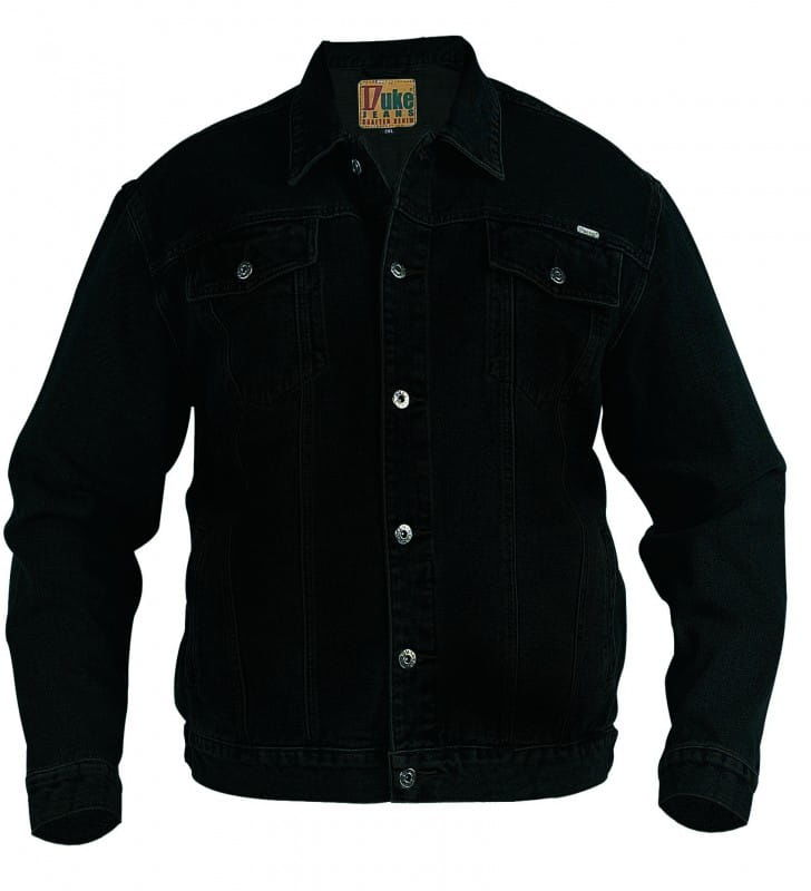 Duke Trucker Duża Kurtka Jeans Czarna