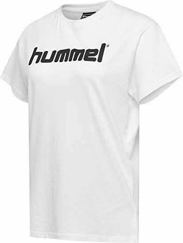 Hummel Hmlgo Cotton T-shirt damski z logo biały biały X-S