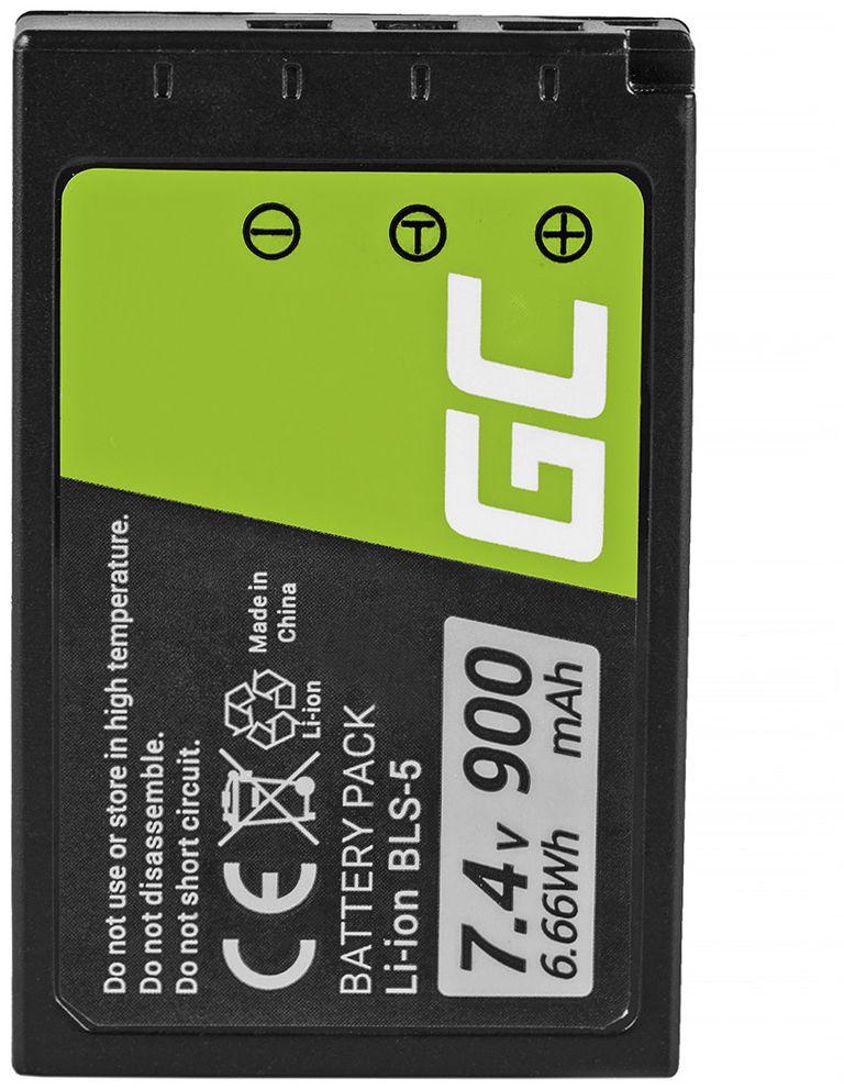 Akumulator Bateria Green Cell  BLS-50 BLS-5 do Olympus E-M10 Mark II/III OM-D E-M10 Stylus E-PL2 E-410 E-420 E-450 7.4V 900mAh