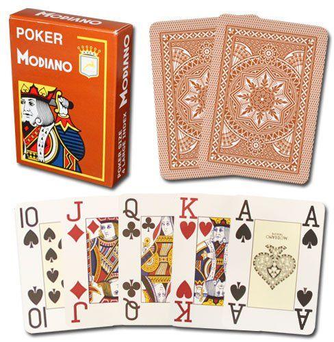 Modiano Karty do gry 487  Poker Cristallo, 4 wskaźniki brązowe