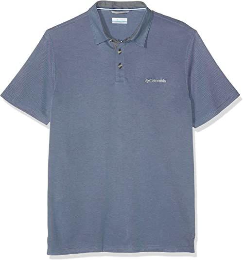 Columbia koszulka męska z krótkim rękawem Nelson Point Graphic Short Sleeve Tee, poliester/Modal niebieski Blau (Mountain) S