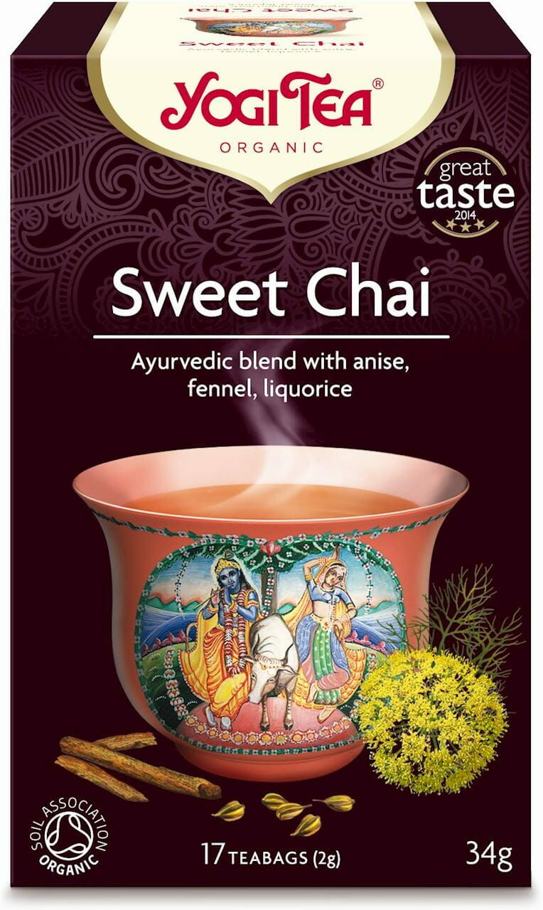 Herbatka słodki chai sweet chai bio 17 x 2 g 34 g - yogi tea