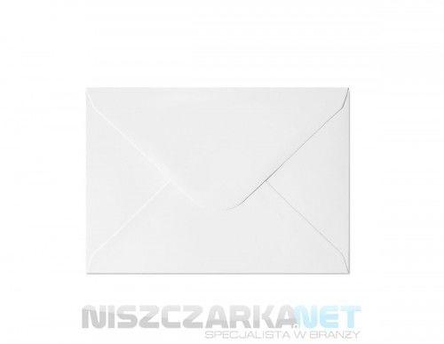 Koperta / koperty ozdobne C6 - GŁADKI BIAŁY opk 10szt 150g/m2