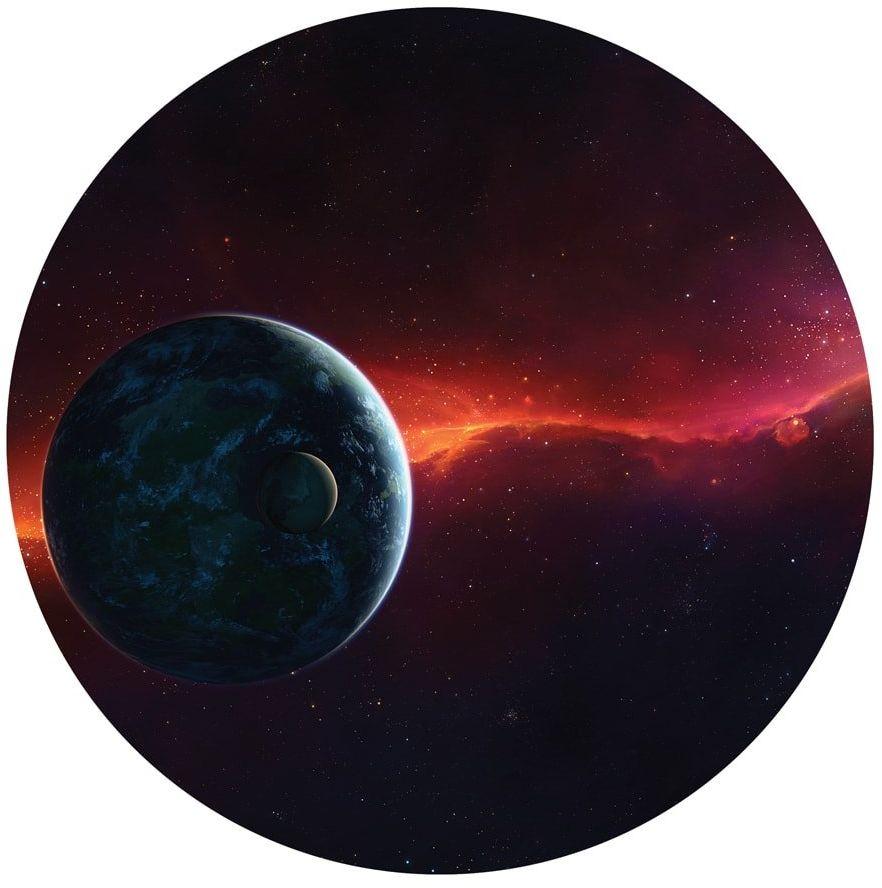 Dekoracyjny opłatek tortowy Kosmos - 20 cm