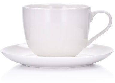 Filiżanka ze spodkiem DUKA FELICIA 300 ml biała porcelana