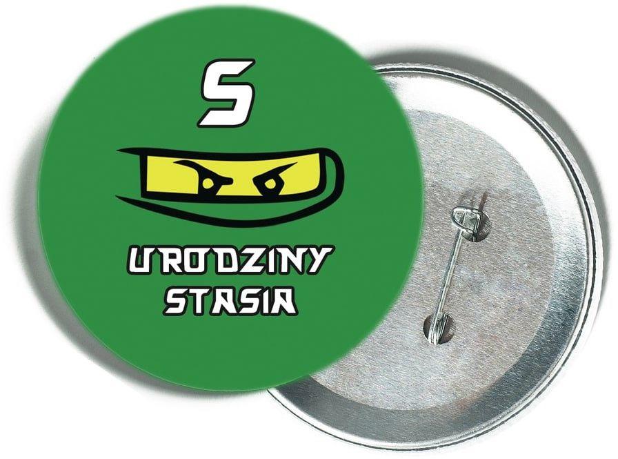 Przypinka personalizowana Ninja - 1 szt.