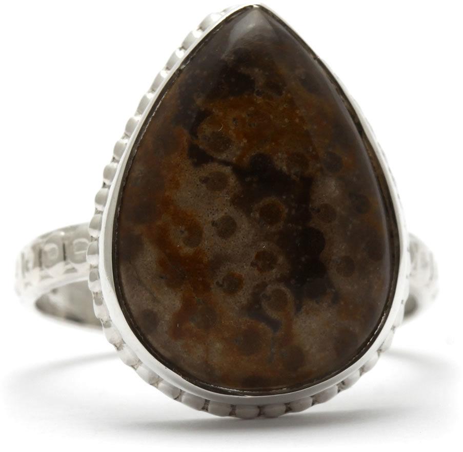Kuźnia Srebra - Pierścionek srebrny, rozm. 17, Jaspis, 4g, model