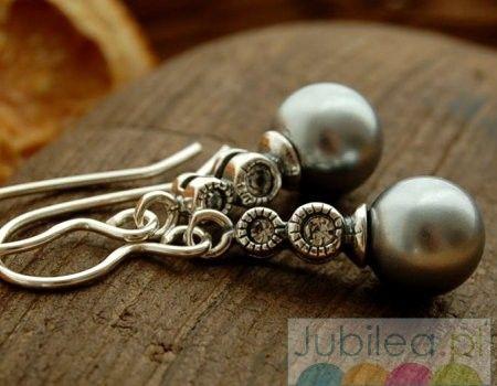Baobab - srebrne kolczyki z perła i cyrkonią