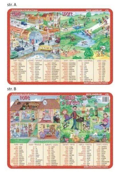 Podkładka edu. 038 - Town, sport, home, family