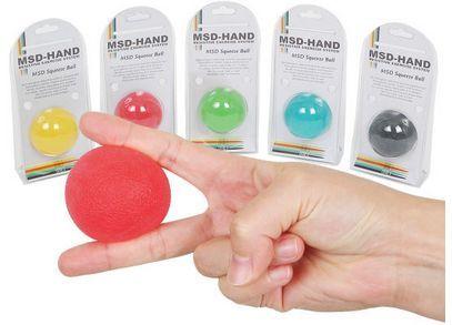 Silikonowa piłeczka do ćwiczeń i rehabilitacji dłoni (MSD Squeeze ball)