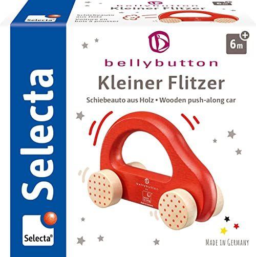 Selecta 64007 Kleiner Flitzer, zabawka do chwytania z drewna, czerwona, 10 cm