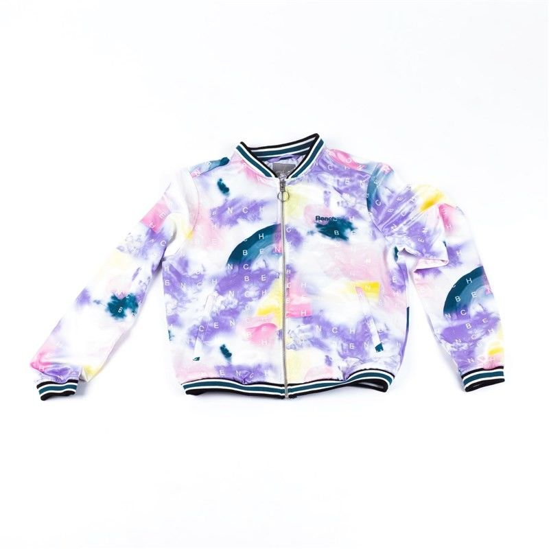kurtka BENCH - Bomber With Aop And Tippings Tied Dye Letter Aop (P1186
