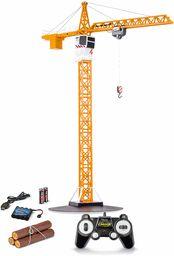Carson 500907301 1:20 Tower Crane 2.4G 100% RTR, zdalnie sterowany dźwig, pojazd budowlany z funkcjami, w zestawie baterie i pilot zdalnego sterowania