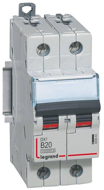 Wyłącznik nadpradowy 2P B 20A 10kA S312 DX3 408943