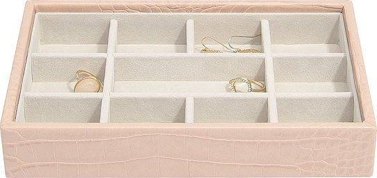 Szkatułka na biżuterię stackers croc 11 komorowa mini różowa