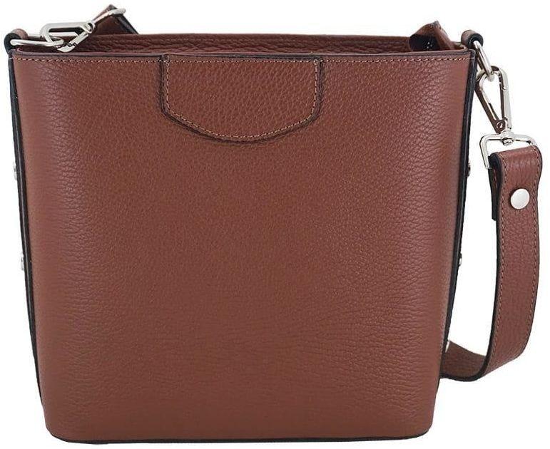 Klasyczna torebka listonoszka - Brązowa - Brązowy