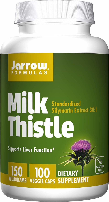 JARROW FORMULAS Milk Thistle (Ostropest Plamisty) 100 Kapsułek wegetariańskich