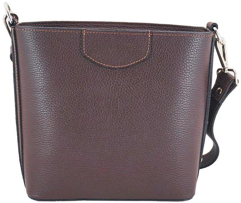 Klasyczna torebka listonoszka - Brązowa ciemna - Brązowy ciemny