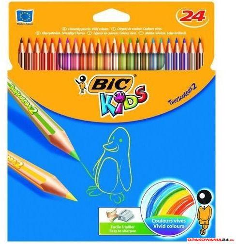 Kredki ołówkowe BIC Kids Tropicolors 24kol., 9375182