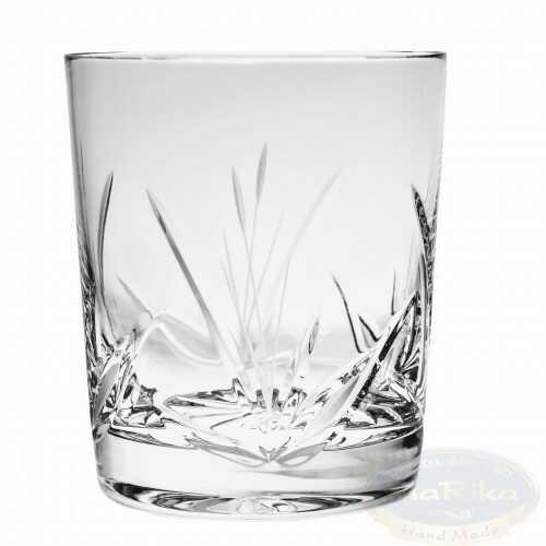 Kryształowe szklanki do whisky 280ml Mrożony Listek 6 sztuk