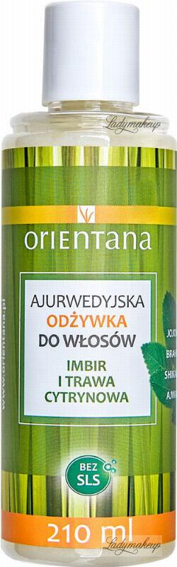 ORIENTANA - AYURVEDIC HAIR CONDITIONER - GINGER & LEMONGRASS - Ajurwedyjska odżywka do włosów - Imbir i trawa cytrynowa - 210 ml