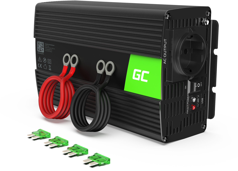 Przetwornica napięcia Inwerter Green Cell  12V na 230V 1000W/2000W Modyfikowana sinusoida