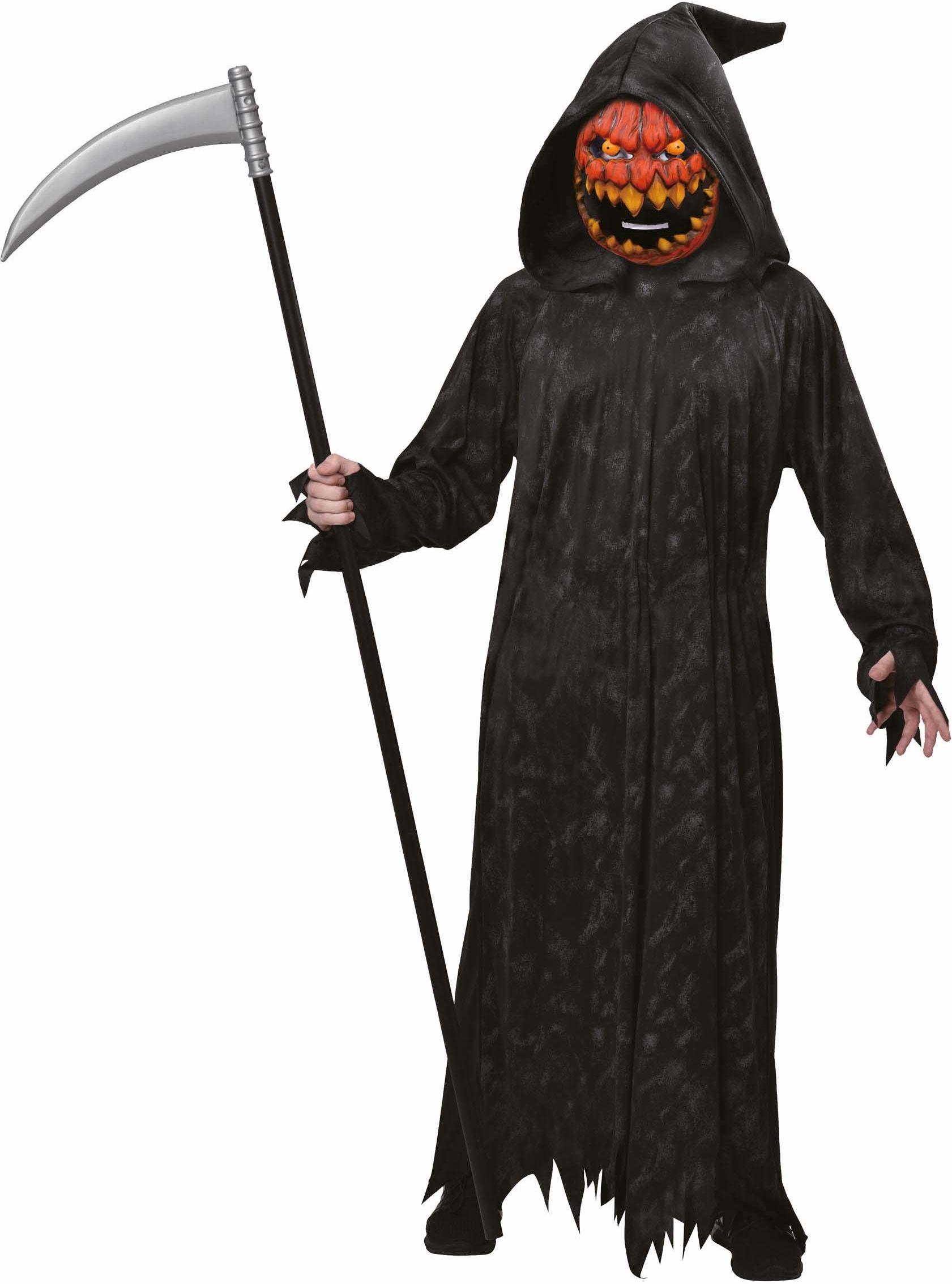 Amscan 9902813 - kostium dziecięcy Sensenmann, Robe, Kaptury, maska dyni, dynia, impreza tematyczna, karnawał, Halloween